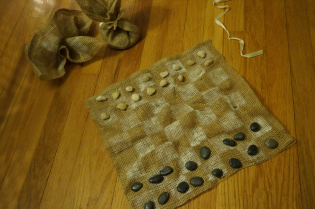 Burlap Checkerboard and Tic-Tac-Toe